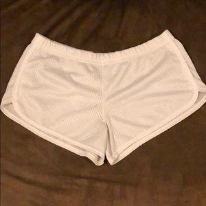 White mesh soffe shorts